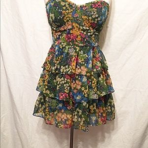 Abercrombie & Fitch Floral Bustier Dress Top LARGE